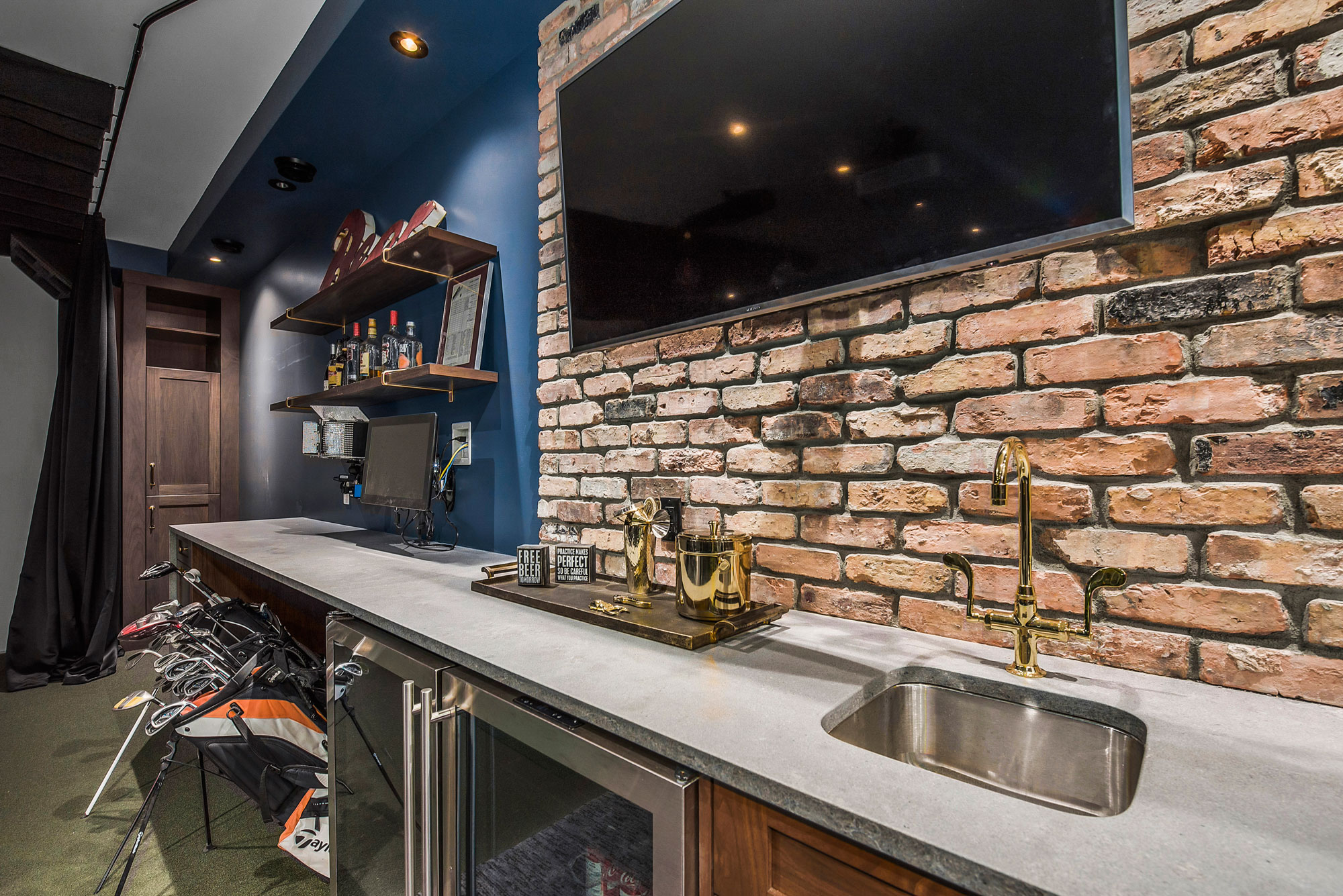 Luxury Wet Bar in a Custom Home by Style Developments