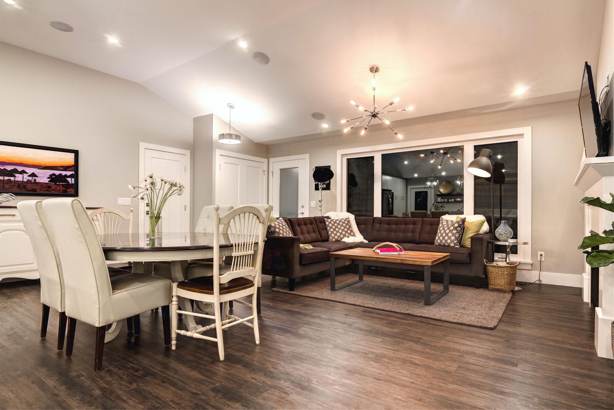 Living Room with Hardwood Floors remodel by Style Developments in Calgary Alberta